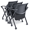 Mesh Chairs Nested
