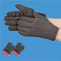 Cotton Brown Jersey Gloves